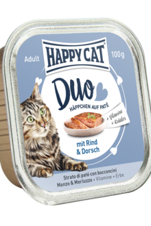 Happy Cat Duo - Nöt och Torsk 100 gram