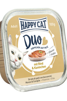 Happy Cat duo Nöt och Kanin 12 x 100 gram